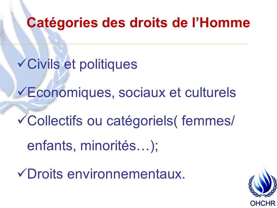 Quelles sont les sources de droits de lhomme.