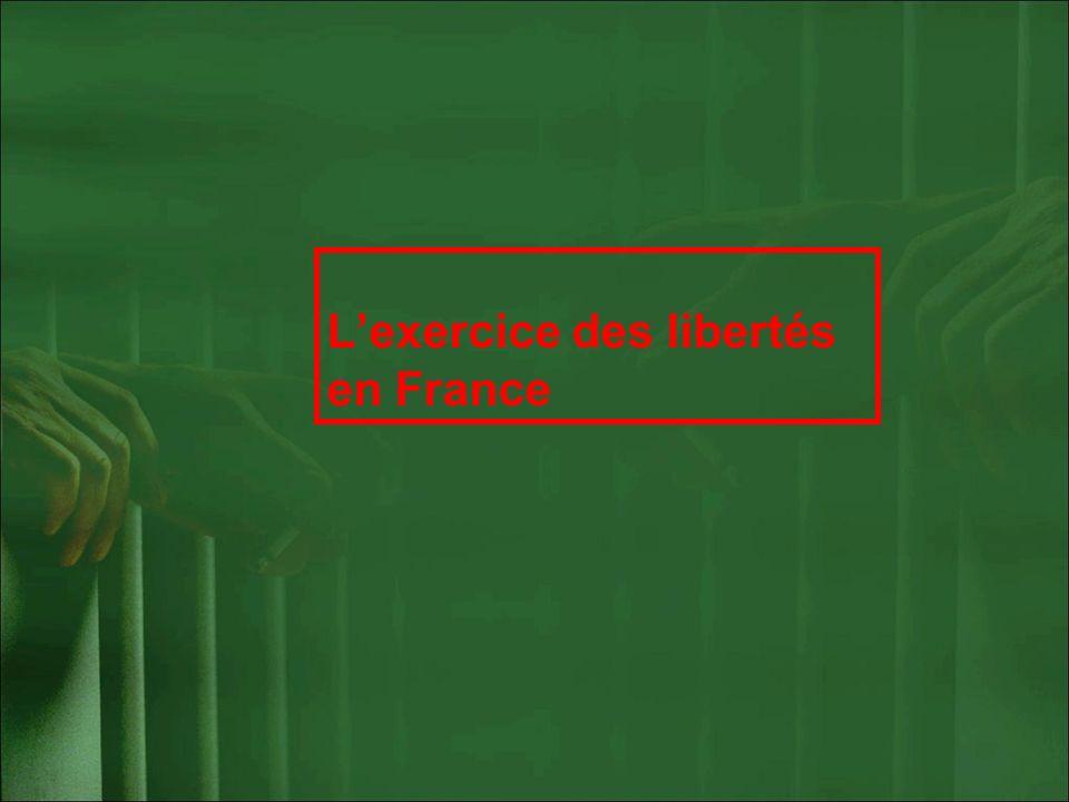 Lexercice des libertés en France