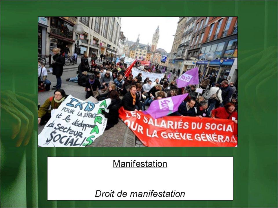 Manifestation Droit de manifestation