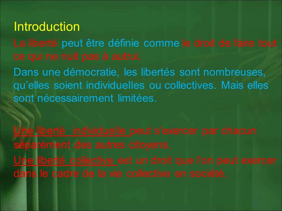 Quelles sont les libertés fondamentales que nous possédons en France .