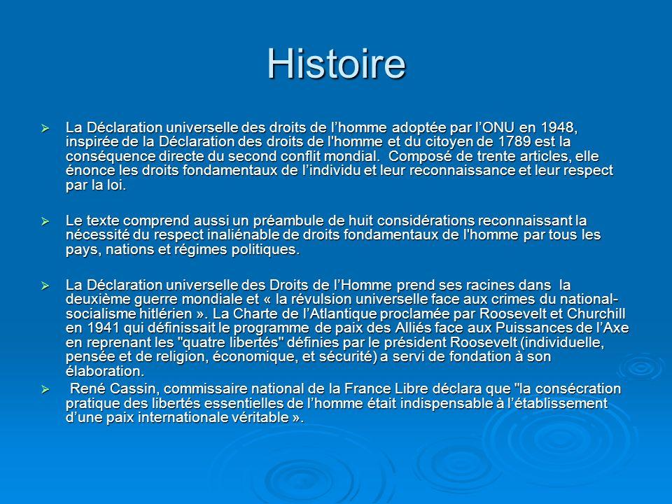 61 ème anniversaire de la Déclaration Universelle des Droits de lHomme 1948- 2009 10 décembre