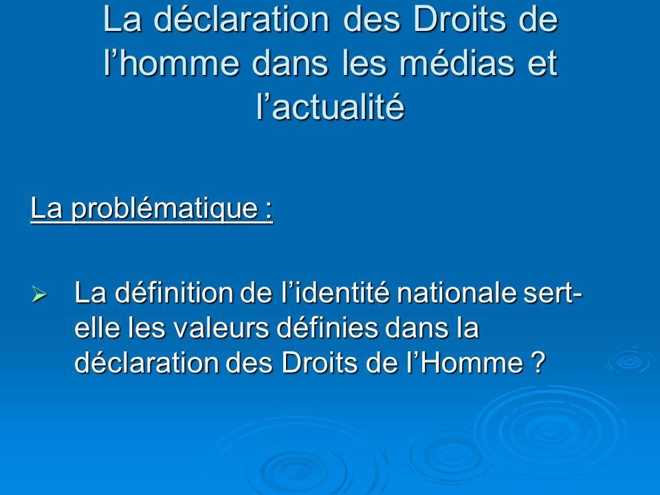 Histoire La Déclaration universelle des droits de lhomme adoptée par lONU en 1948, inspirée de la Déclaration des droits de l'homme et du citoyen de 1