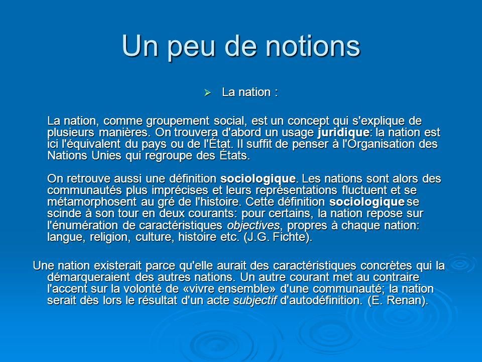 La déclaration des Droits de lhomme dans les médias et lactualité La problématique : La définition de lidentité nationale sert- elle les valeurs défin