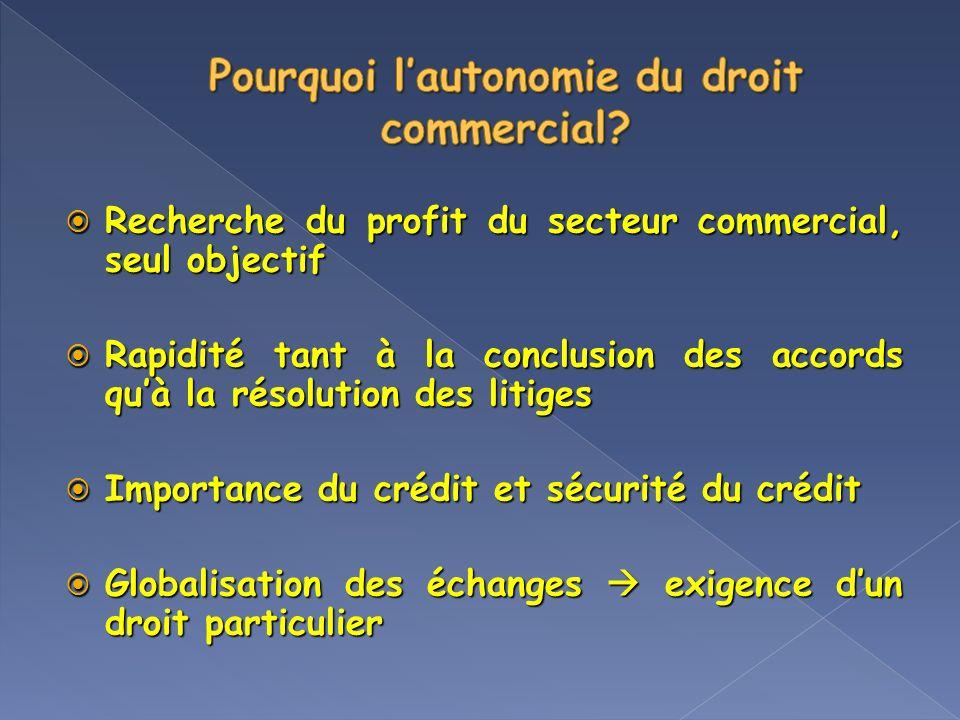Recherche du profit du secteur commercial, seul objectif Recherche du profit du secteur commercial, seul objectif Rapidité tant à la conclusion des ac
