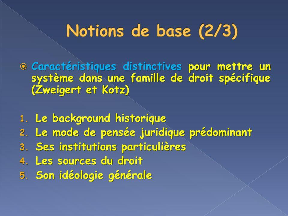 Tradition juridique Tradition juridique Système juridique combiné avec la culture dont celui-ci sest inspiré.