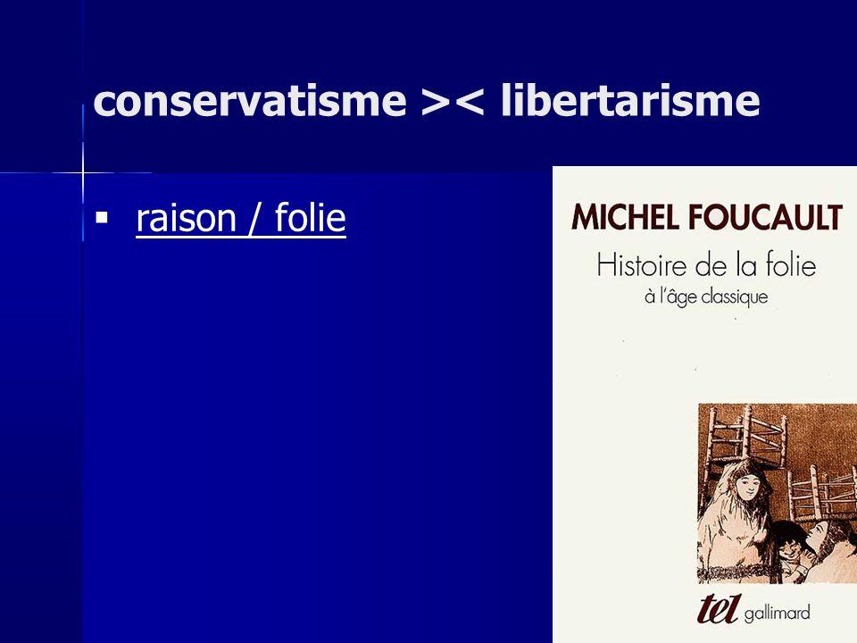 raison / folie conservatisme >< libertarisme