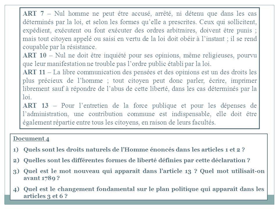 ART 7 – Nul homme ne peut être accusé, arrêté, ni détenu que dans les cas déterminés par la loi, et selon les formes quelle a prescrites.