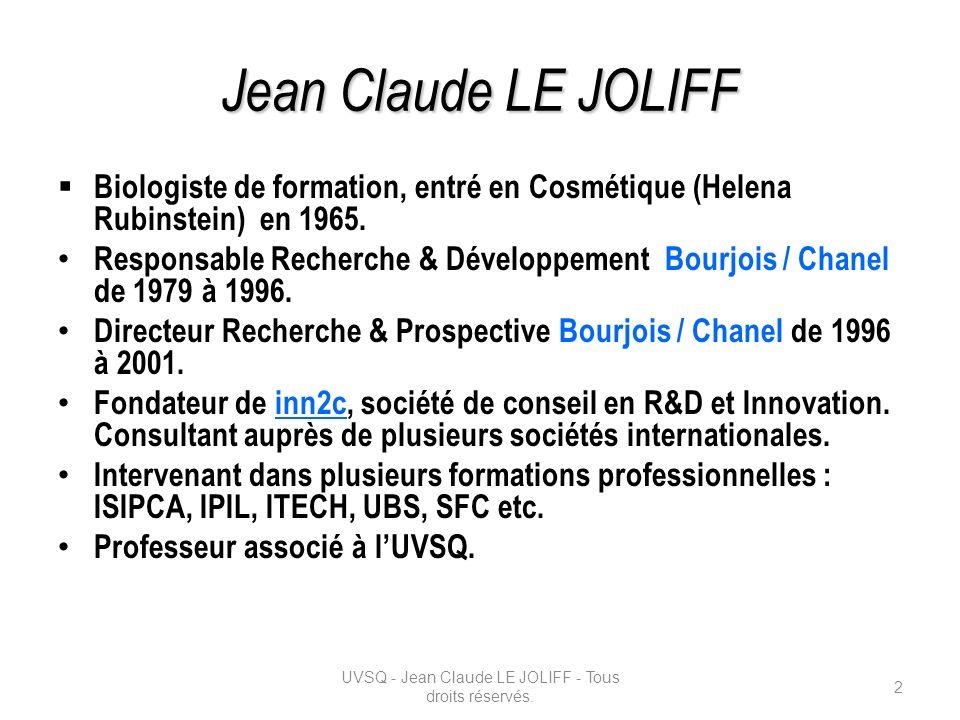 Biologiste de formation, entré en Cosmétique (Helena Rubinstein) en 1965. Responsable Recherche & Développement Bourjois / Chanel de 1979 à 1996. Dire