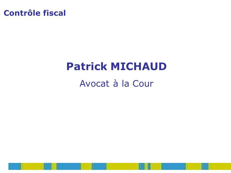 Contrôle de bureau 12LE CONTROLE FISCAL par P.MICHAUD