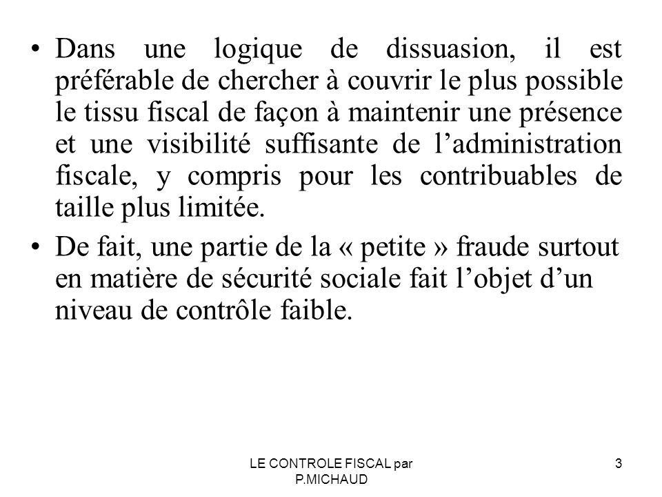 ESFP et poursuites pénales Chapitre I bis du LPF Art.80 F : Le droit d enquête Chapitre I bis du LPF Art.80 F : Le droit d enquête 14LE CONTROLE FISCAL par P.MICHAUD