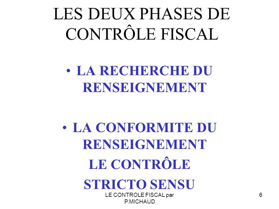Phase juridictionnelle 17LE CONTROLE FISCAL par P.MICHAUD