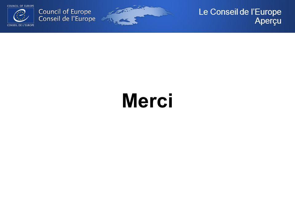 Merci Le Conseil de lEurope Aperçu
