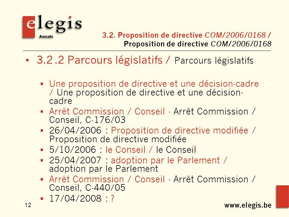www.elegis.be 12 3.2.