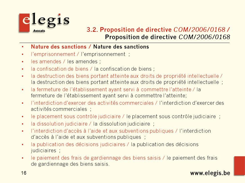 www.elegis.be 16 3.2.