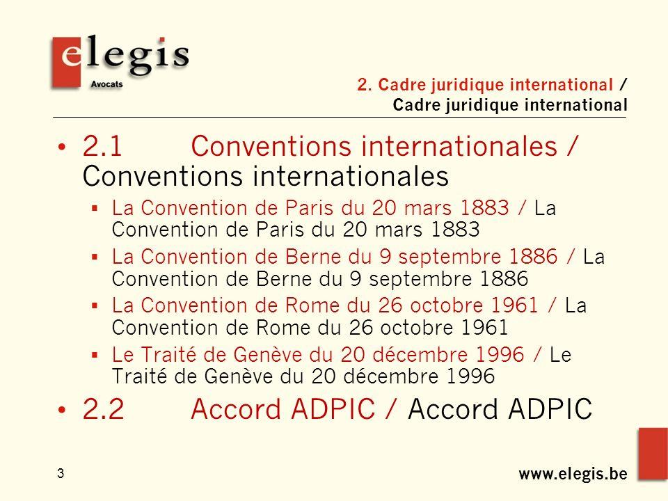 www.elegis.be 3 2.