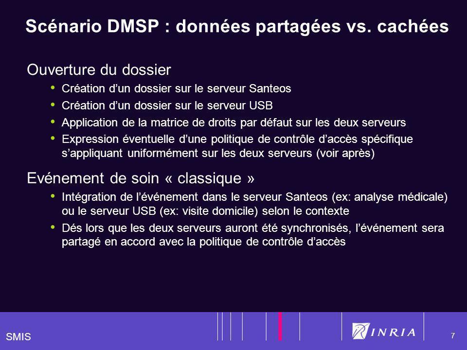 SMIS 7 Scénario DMSP : données partagées vs.
