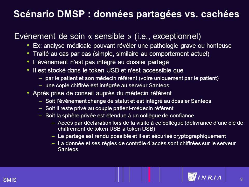 SMIS 8 Scénario DMSP : données partagées vs.