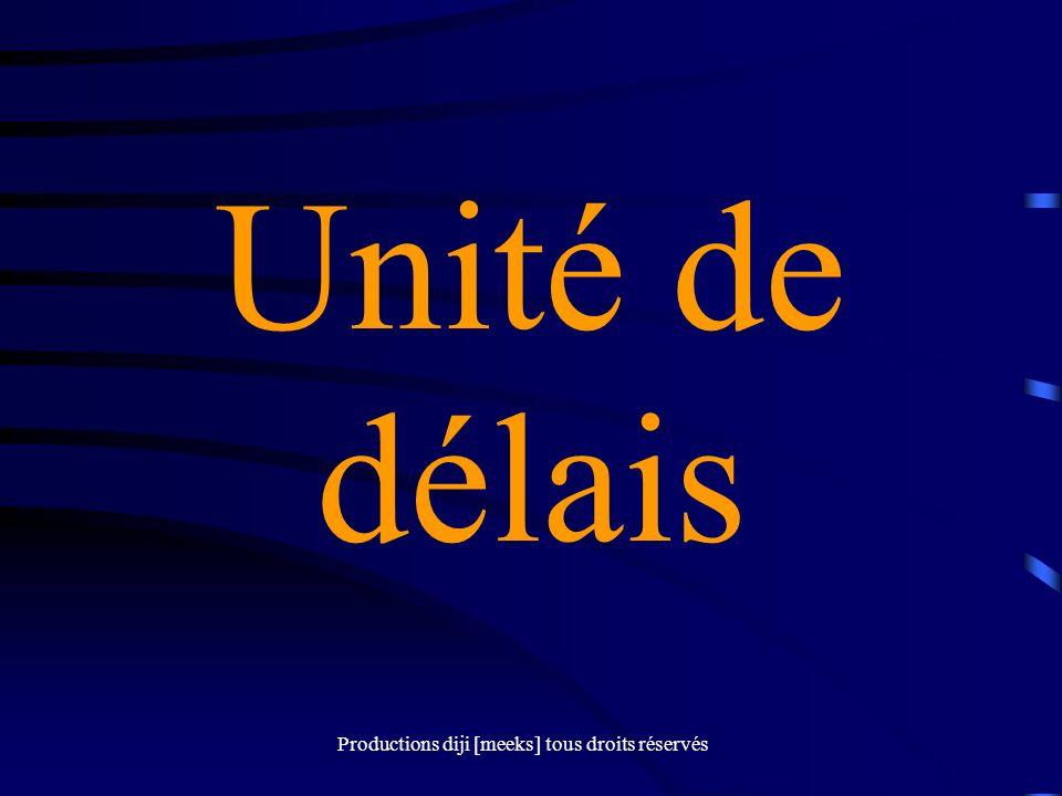 Productions diji [meeks] tous droits réservés Unité de délais