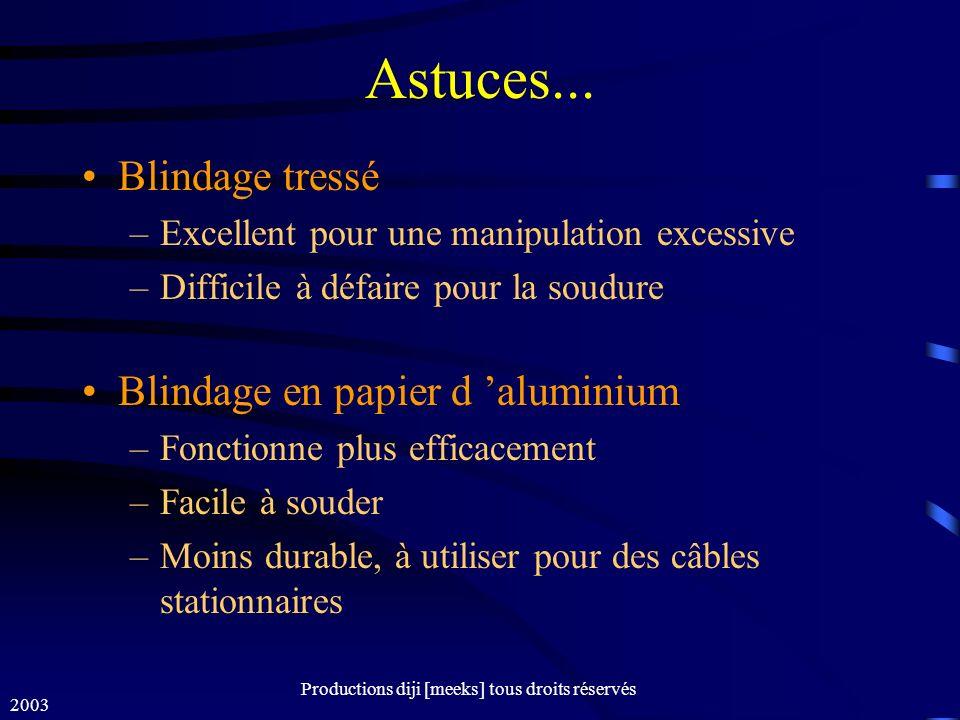 2003 Productions diji [meeks] tous droits réservés Astuces...