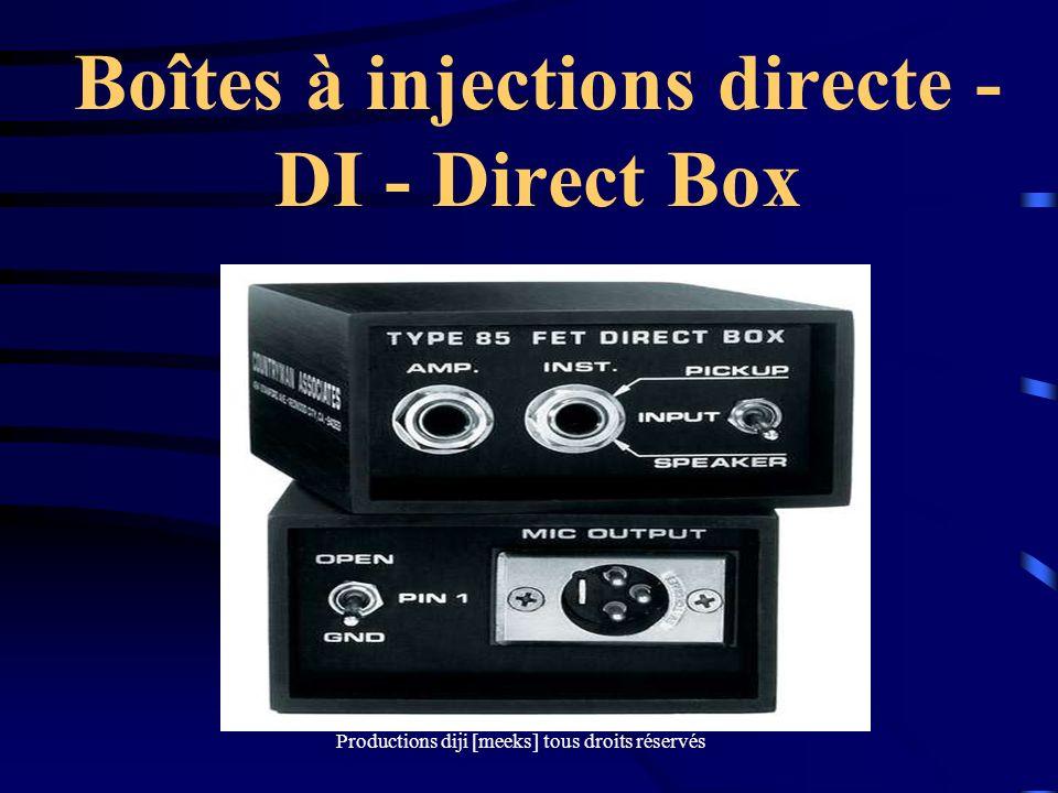 Productions diji [meeks] tous droits réservés Boîtes à injections directe - DI - Direct Box