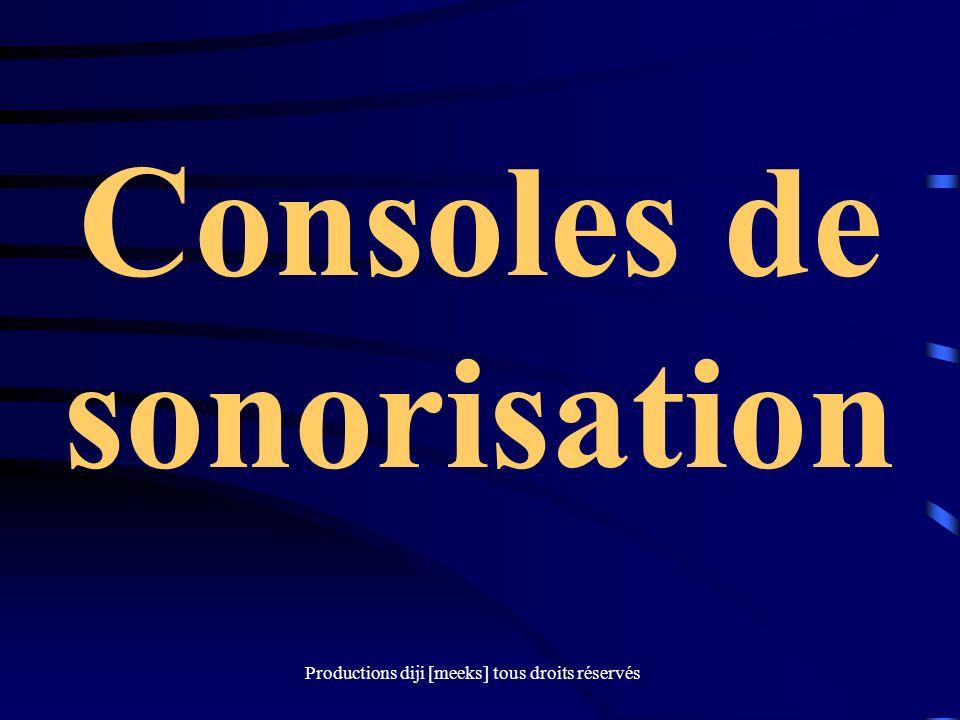 Consoles de sonorisation