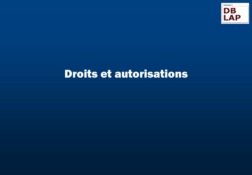 Droits et autorisations