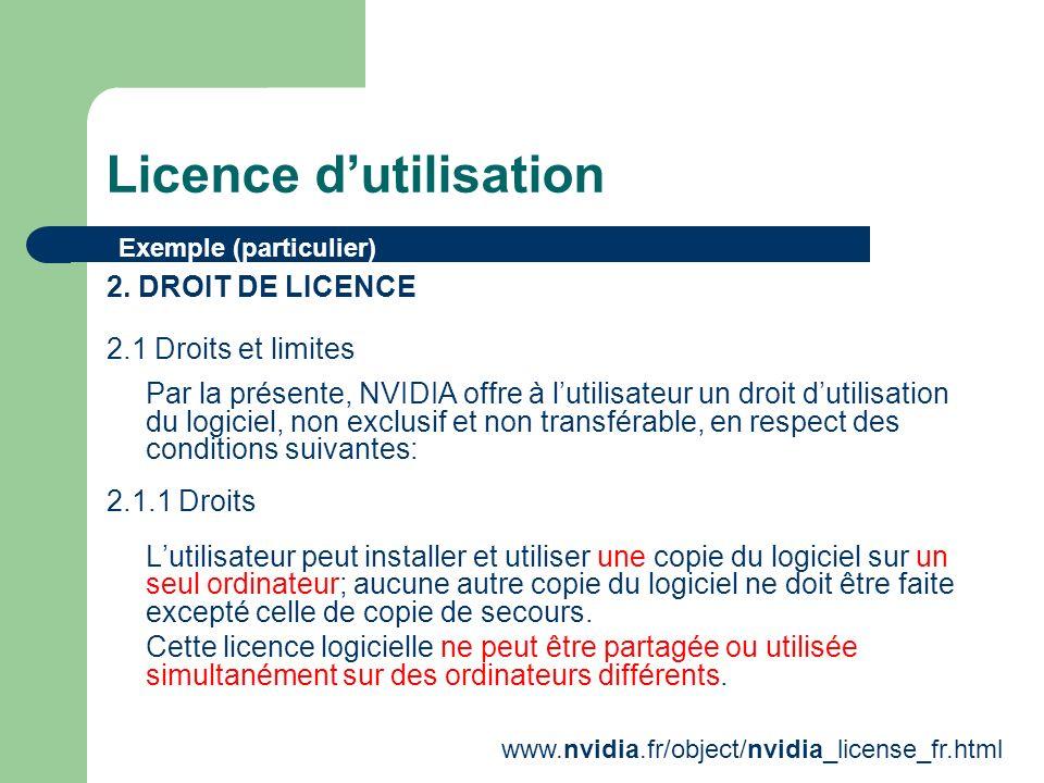Licence dutilisation 2.1.3 Limitations Il est interdit deffectuer une ingénierie inverse.