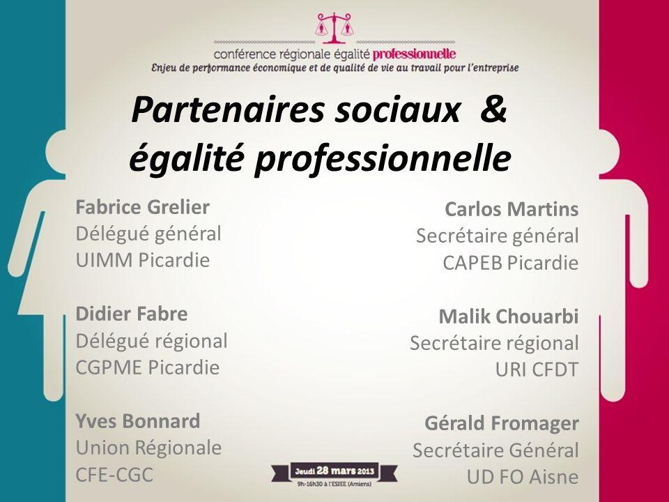 Fabrice Grelier Délégué général UIMM Picardie Didier Fabre Délégué régional CGPME Picardie Yves Bonnard Union Régionale CFE-CGC Partenaires sociaux &