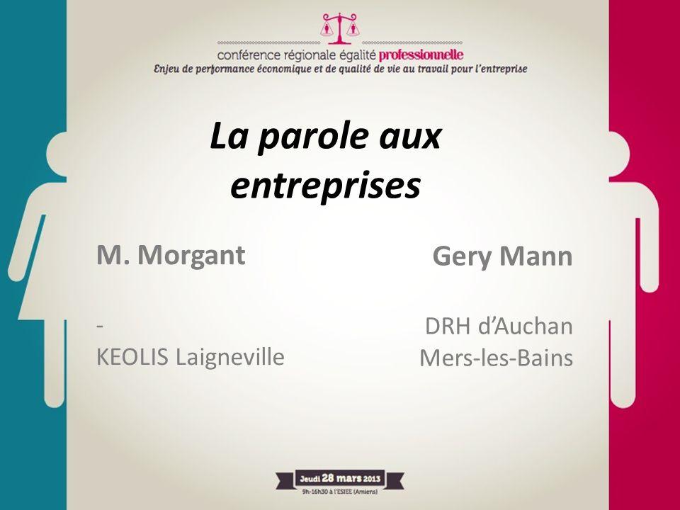 M. Morgant - KEOLIS Laigneville La parole aux entreprises Gery Mann DRH dAuchan Mers-les-Bains