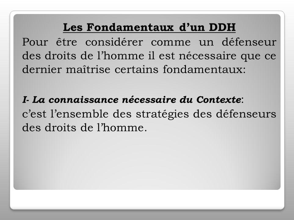Comment faut il protéger les Défenseurs des Droits de lhomme.