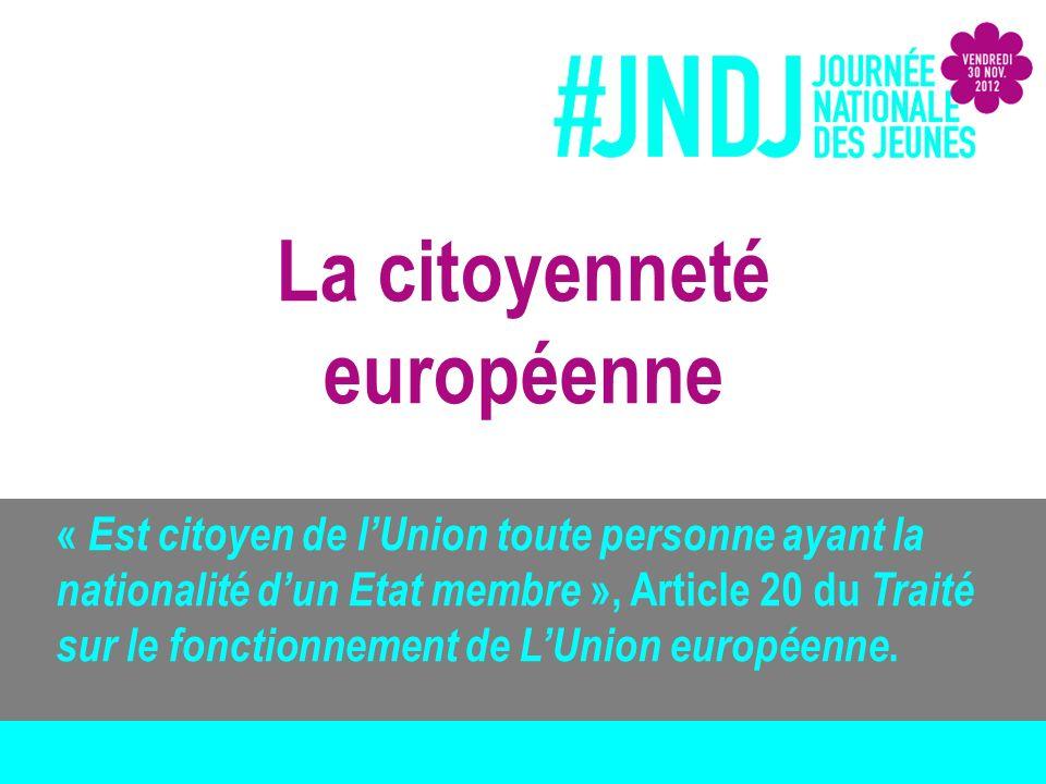 « Il est institué une citoyenneté de lUnion.