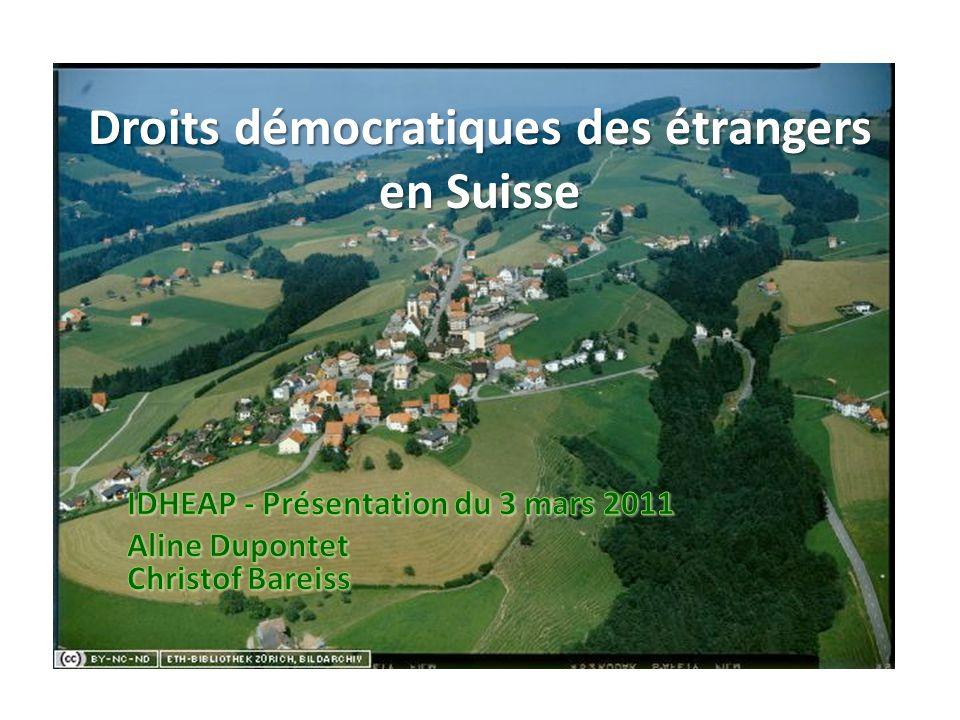 Droits démocratiques des étrangers en Suisse