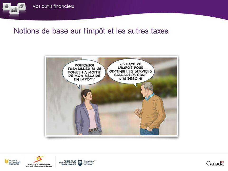 Notions de base sur limpôt et les autres taxes