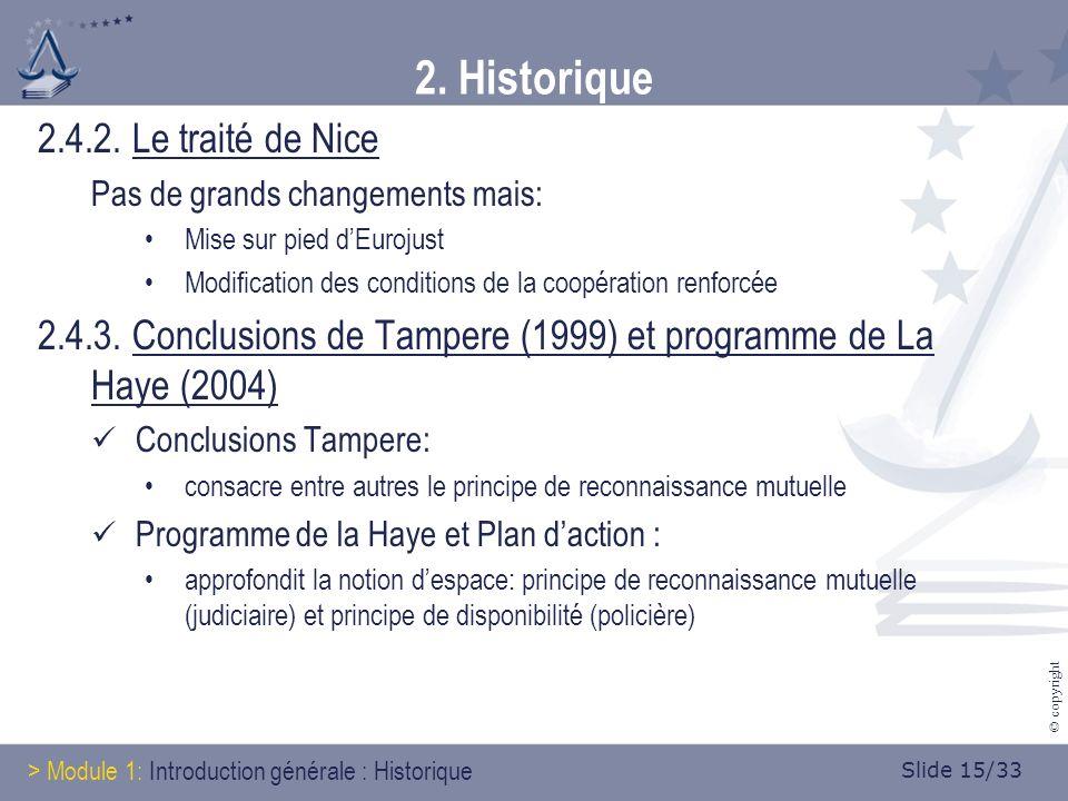 Slide 15/33 © copyright 2. Historique 2.4.2.