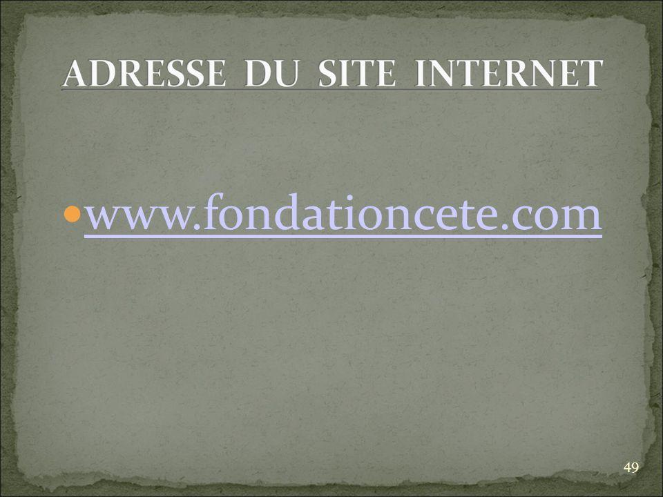 www.fondationcete.com 49