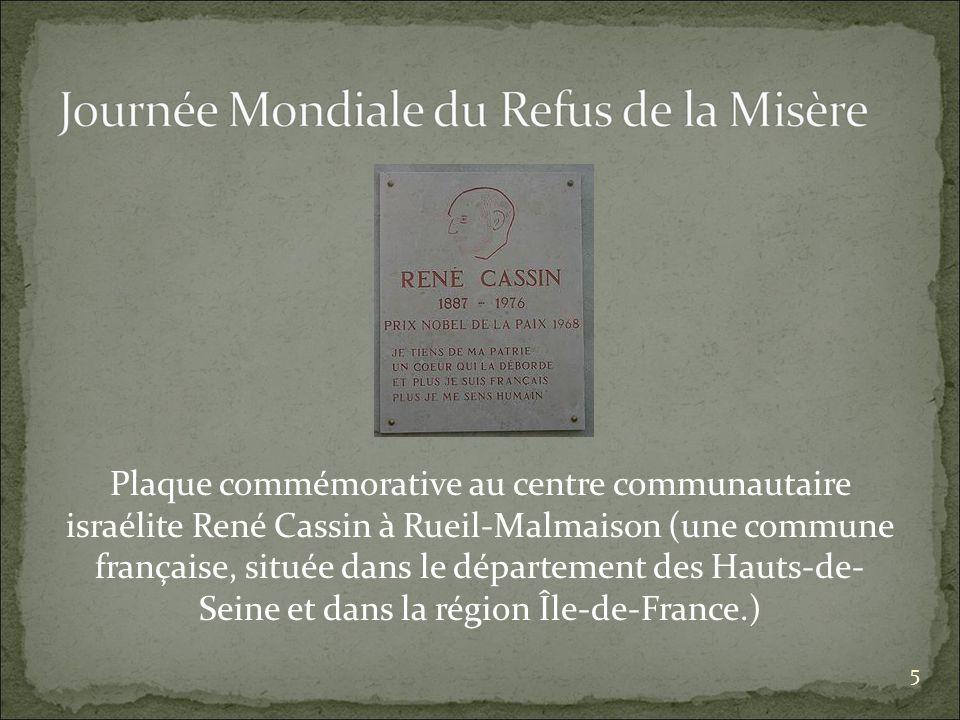 Plaque commémorative au centre communautaire israélite René Cassin à Rueil-Malmaison (une commune française, située dans le département des Hauts-de- Seine et dans la région Île-de-France.) 5