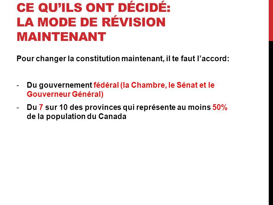 LA CHARTE CANADIENNE DES DROITS ET LIBERTÉS Trudeau a aussi ajouté une charte sur les droits et libertés à la constitution.