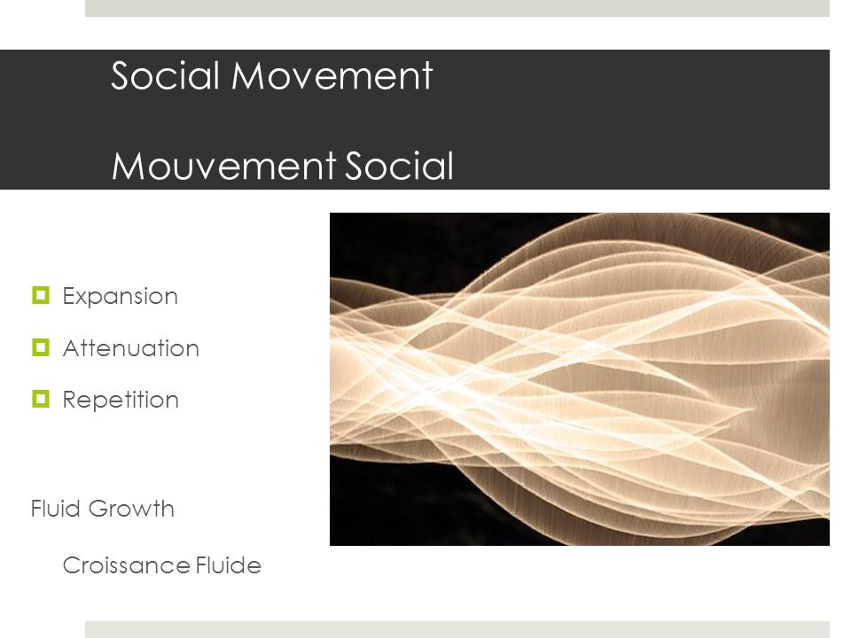 Social Movement Mouvement Social Expansion Attenuation Repetition Fluid Growth Croissance Fluide
