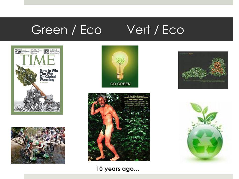 Green / EcoVert / Eco 10 years ago…