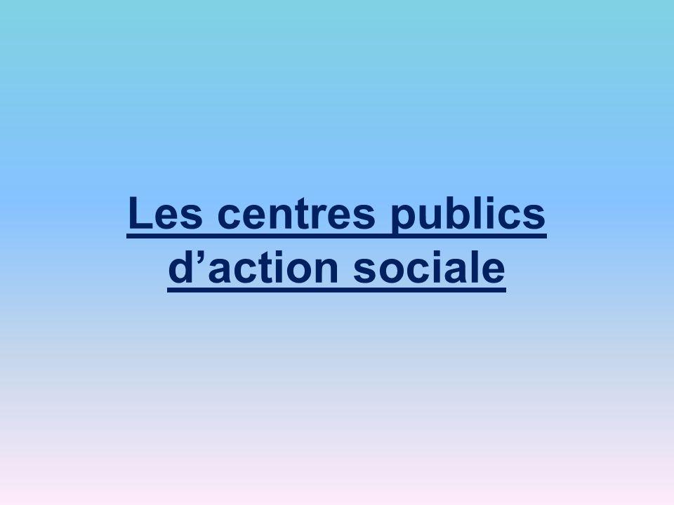 Les centres publics daction sociale