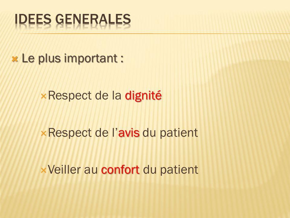 Traitements si besoin en fonction du confort du patient.