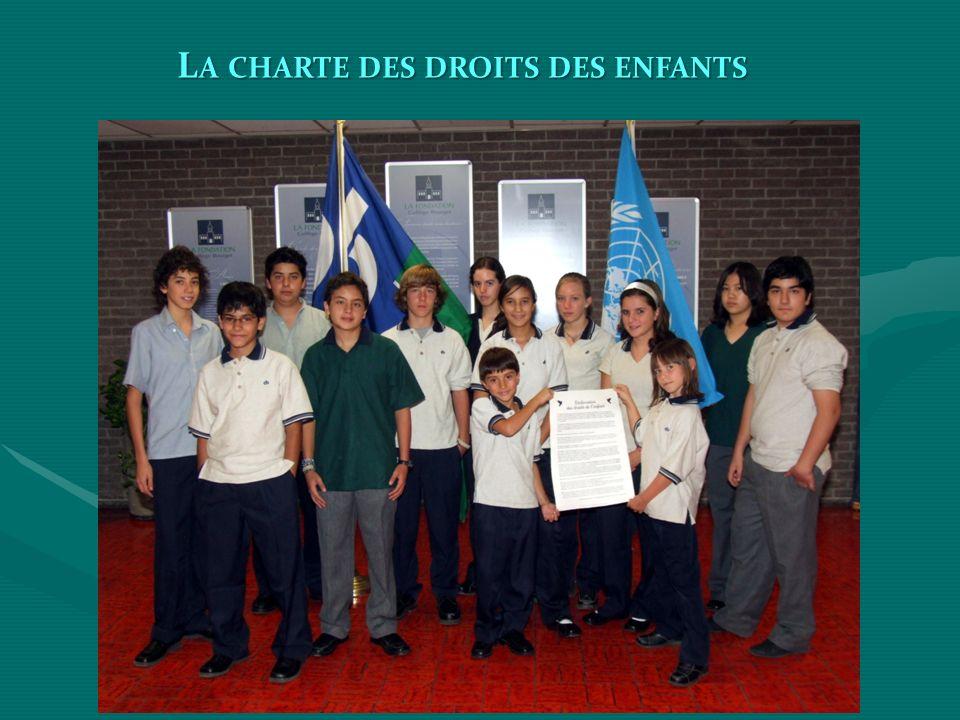 L A CHARTE DES DROITS DES ENFANTS