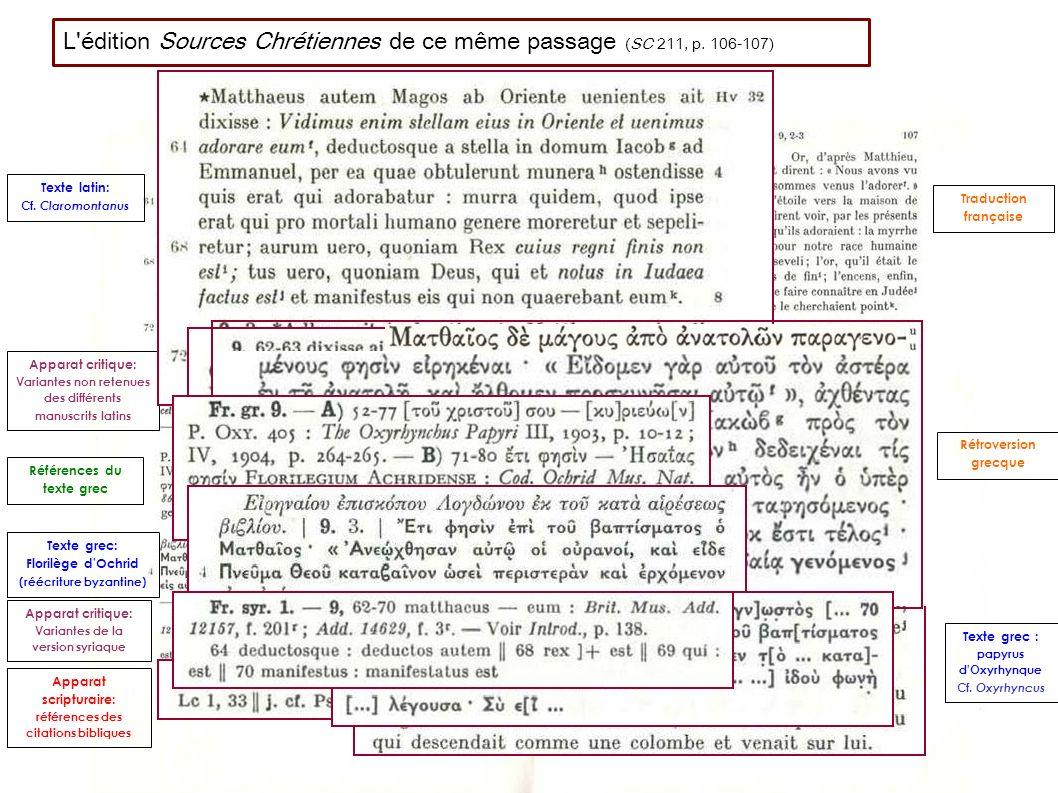 Texte latin: Cf.