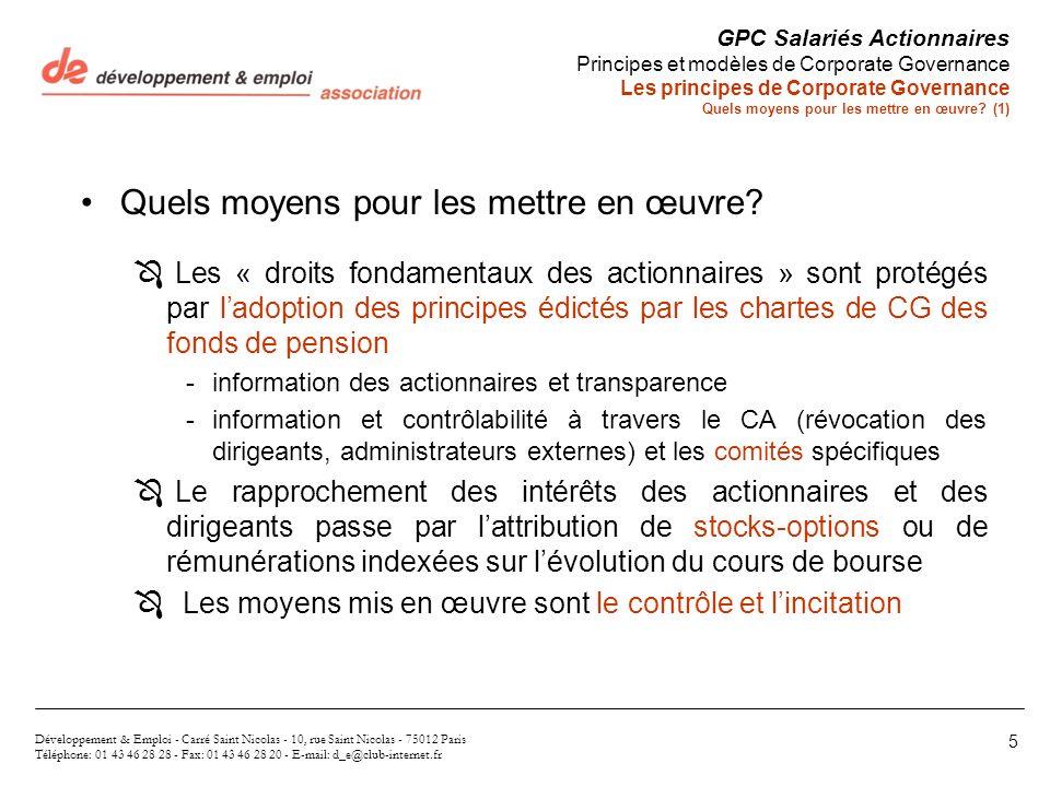 Développement & Emploi - Carré Saint Nicolas - 10, rue Saint Nicolas - 75012 Paris Téléphone: 01 43 46 28 28 - Fax: 01 43 46 28 20 - E-mail: d_e@club-
