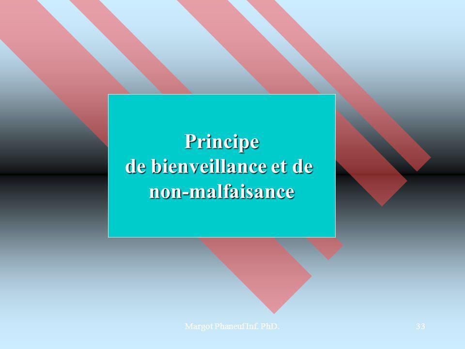 Margot Phaneuf Inf. PhD.33 Principe de bienveillance et de non-malfaisance