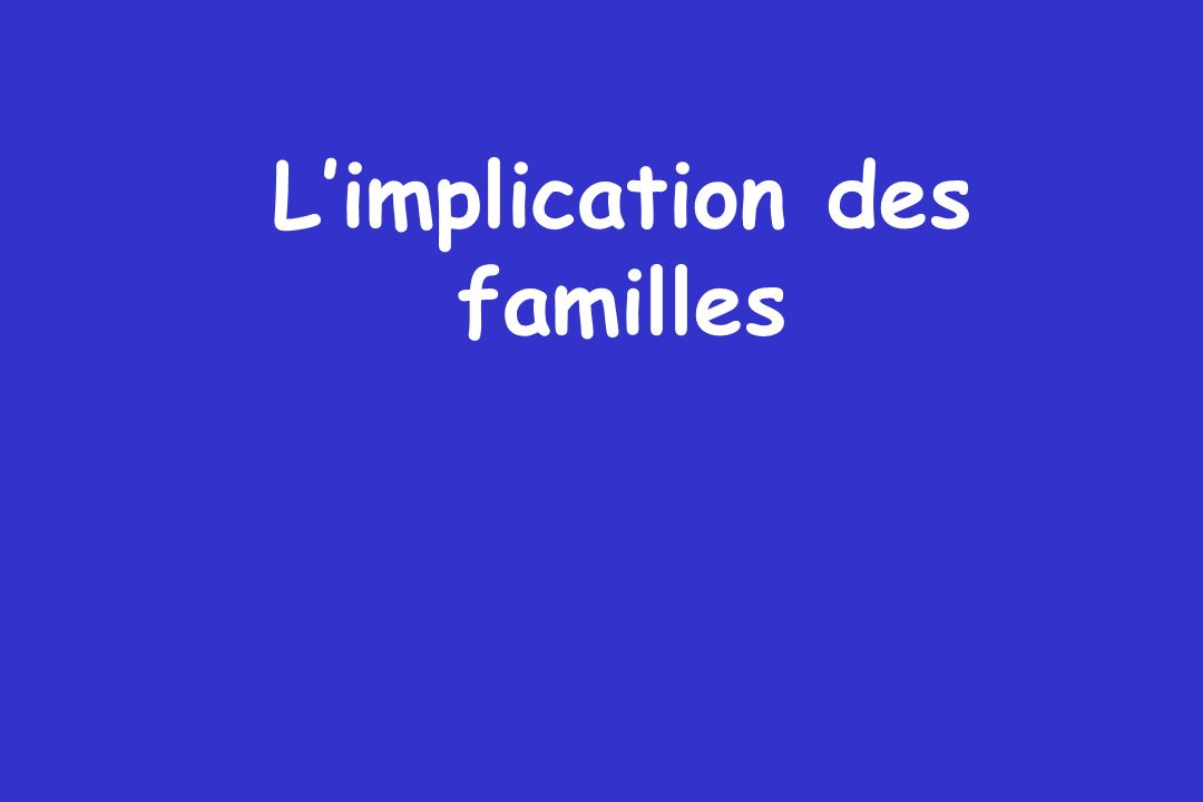 Limplication des familles