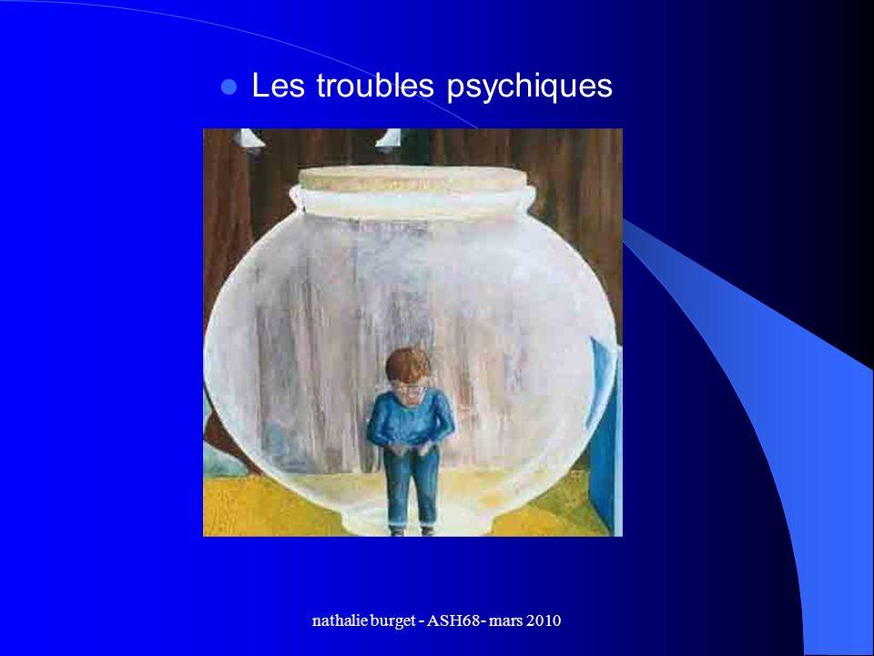 nathalie burget - ASH68- mars 2010 Les troubles psychiques