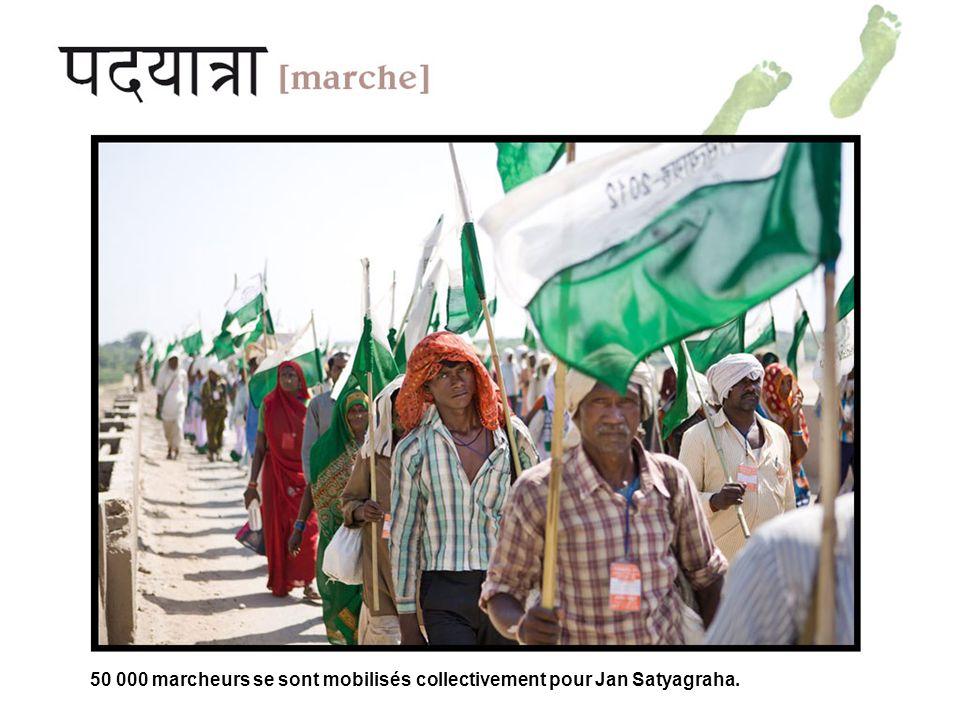 50 000 marcheurs se sont mobilisés collectivement pour Jan Satyagraha.