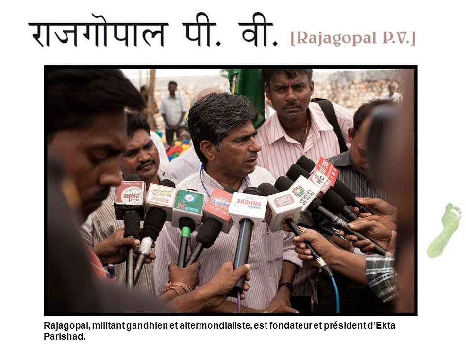 Rajagopal, militant gandhien et altermondialiste, est fondateur et président dEkta Parishad.