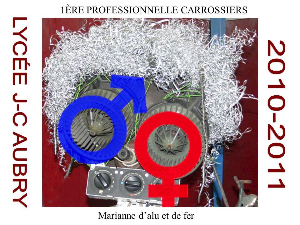 1ÈRE PROFESSIONNELLE CARROSSIERS Marianne dalu et de fer